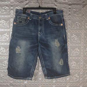 True Religion Joey Super T Jean Shorts Size 34